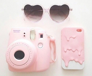 pink, sunglasses, and camera image