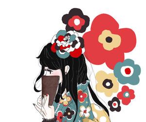 girl and kimono image