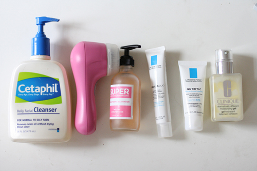 face, routine, and skincare image