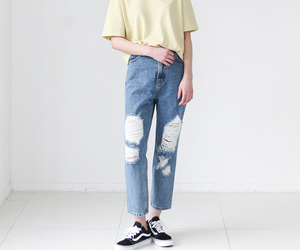 fashion, jeans, and pastel image