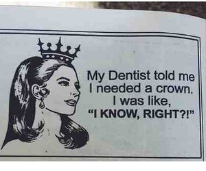 funny, crown, and Queen image