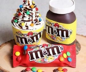 chocolate, food, and m&m image