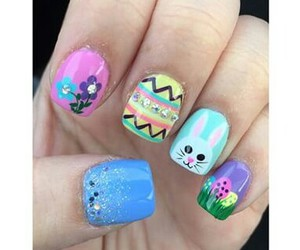 bunny, easter, and nail art image