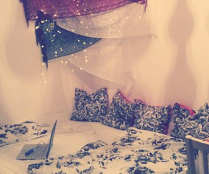 bed, lights, and orient image