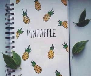 pineapple, notebook, and art image