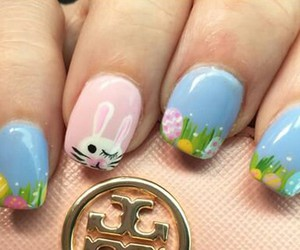 bunny, easter, and nail image