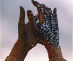 hands, glitter, and tumblr image