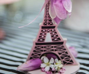 eiffel tower, spring, and flowers image