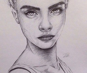 art, drawing, and cara delevingne image