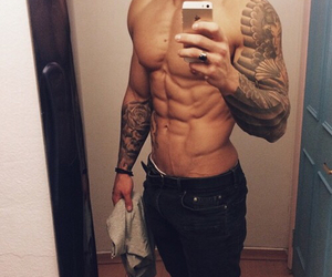 sexy, boy, and abs image