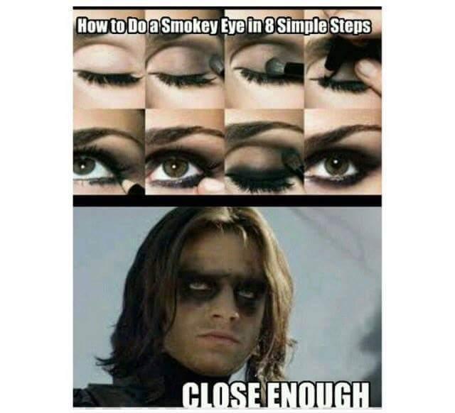 funny, makeup, and meme image