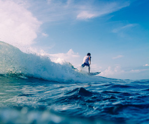 summer, ocean, and surf image