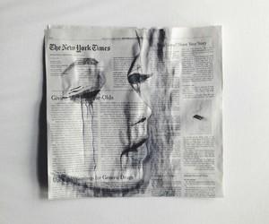 art, newspaper, and grunge image