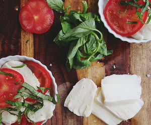food, tomato, and cheese image