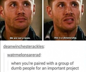 funny, supernatural, and dean winchester image