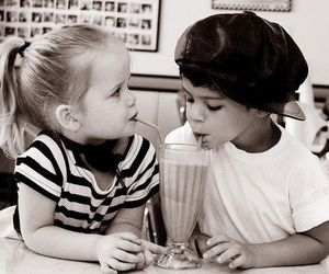 black and white, love, and kids image