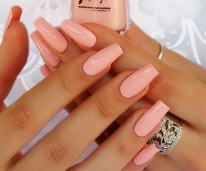 n, nails, and pink image
