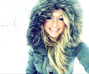 blonde, winter, and snow image