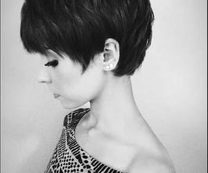 beauty and short haircut image