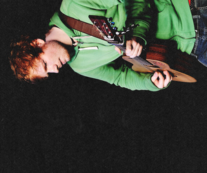boy, green, and guitar image