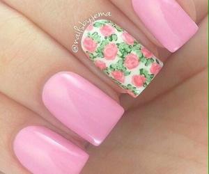 floral, nail art, and pastel image