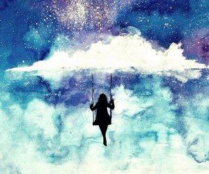 cloud, altalena, and paint image