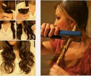curls, diy, and waves image