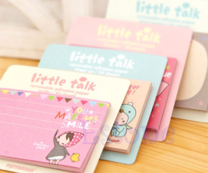stationery, sticky notes, and cute image