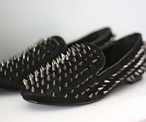 shoes, studs, and black image