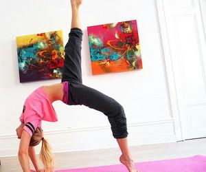 workout, yoga, and fitspo image