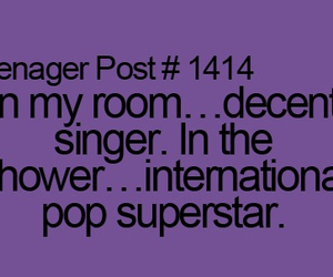 teenager post, singer, and singing image