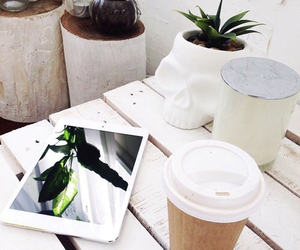 coffee, white, and tumblr image
