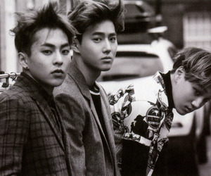 xiumin, kai, and exo image