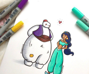 jasmine, disney, and baymax image