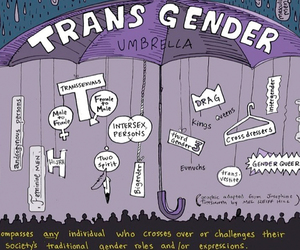 Transgender and umbrella image