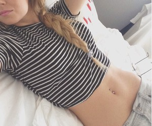 hair and flat stomach image