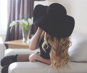 hair, fashion, and hat image