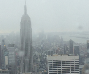 city, empire state building, and grey image