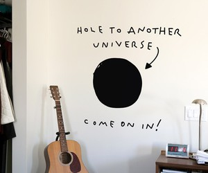 universe, guitar, and hole image
