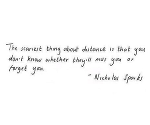 quote, distance, and nicholas sparks image