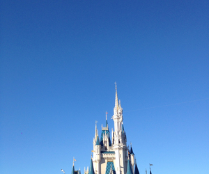 blue, blue sky, and castle image