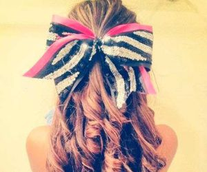 hair, bow, and cheer image