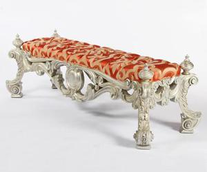 bench, silver leaf, and grand venetian bench image