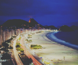beach, night, and photography image