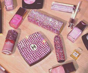 chanel, pink, and makeup image