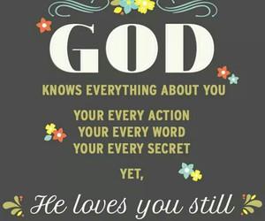 god, words, and secret image