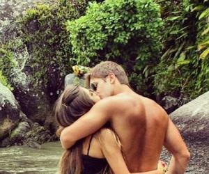 beatiful, couple, and kiss image