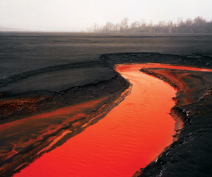 lava, nature, and red image