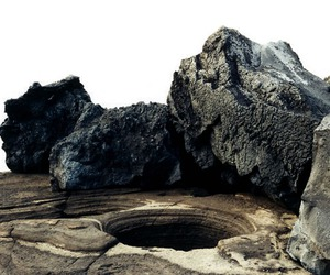 hole, rock, and nature image