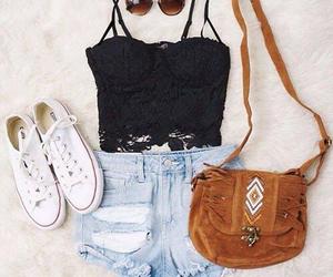 clothes, shorts, and converse image
